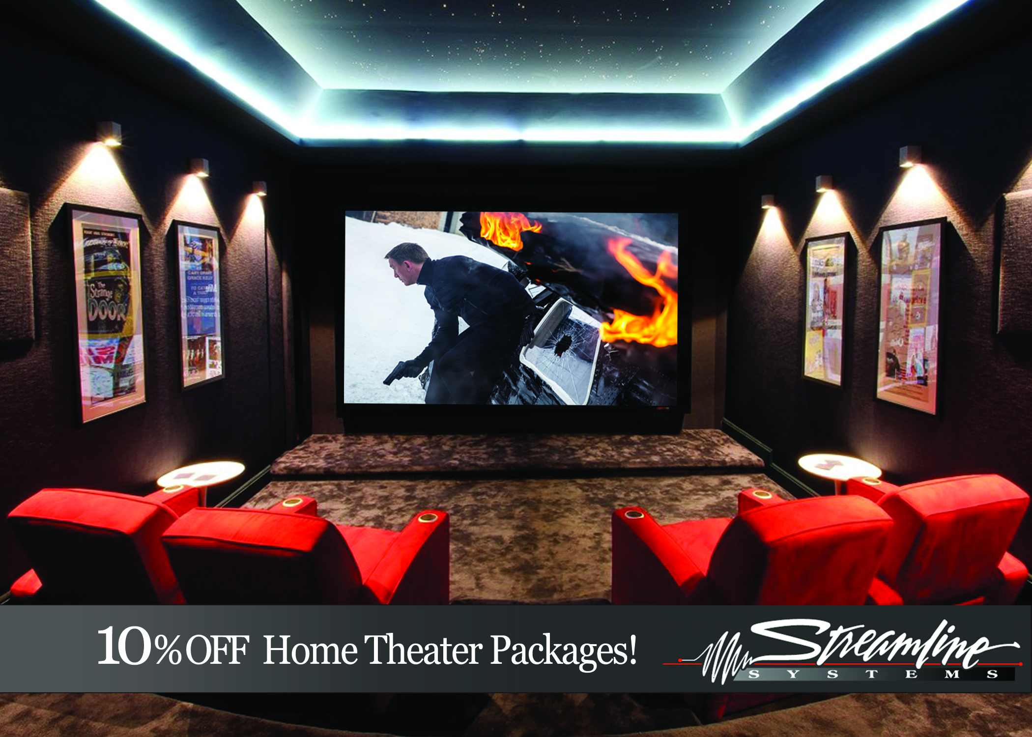 10 off home theater packages streamline systems. Black Bedroom Furniture Sets. Home Design Ideas